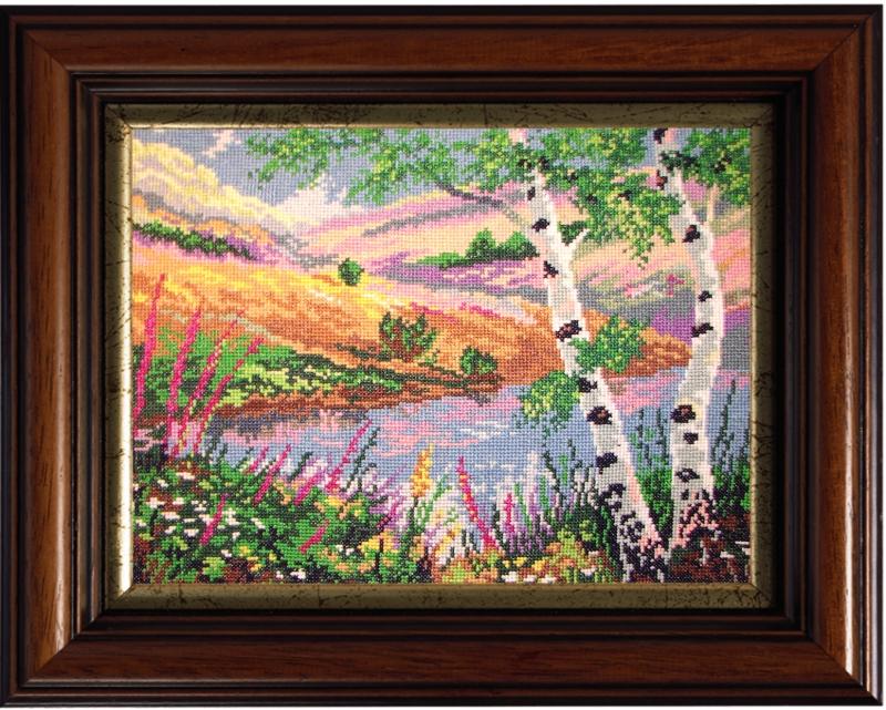 Вышитая картина Русский пейзаж